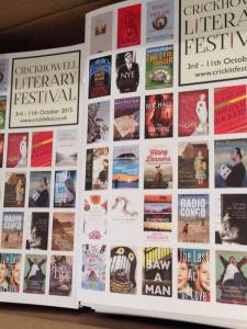 Crickhowell Literary Festival, Fri 9th Oct 2015
