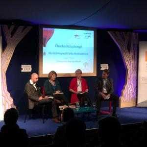 Edinburgh Book Festival, Mon 31st Aug 2015, on the science of reading, with Charles Ferneyhough and Nicola Morgan