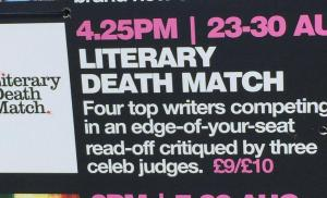 Literary Death Match at the Edinburgh Fringe Festival, Sun 30th Aug 2015