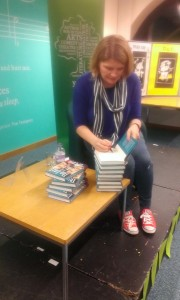 Signing books at Yeovil Literary Festival 30th Oct 2015