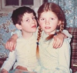 Cathy Rentzenbrink and her brother, Matty, as children